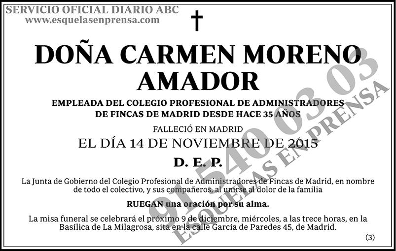 Carmen Moreno Amador